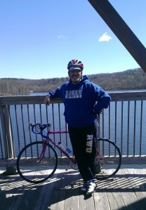 On the Croton Bridge, April 2012. 22 miles, a thousand miles from where I had been