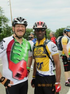 NI and I at the 50-mile rideAlways ready with a hand on the back and a push up the hill
