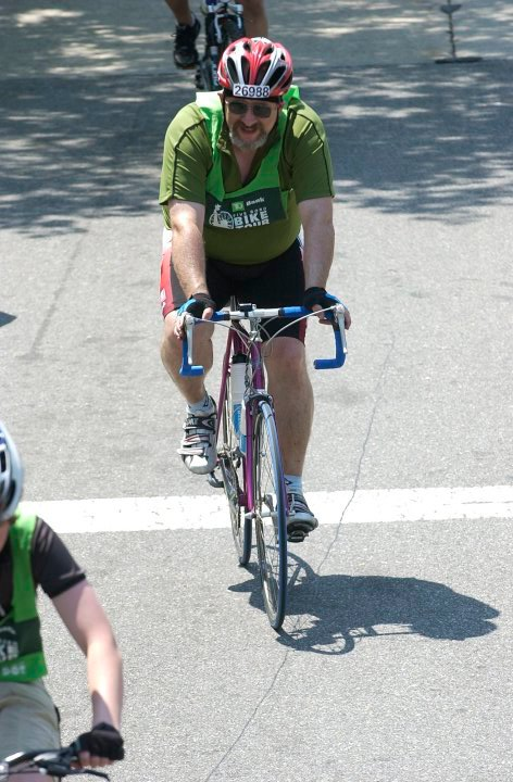 2010.  Notice the belly on me?  250 pounds but I did finish the ride.....