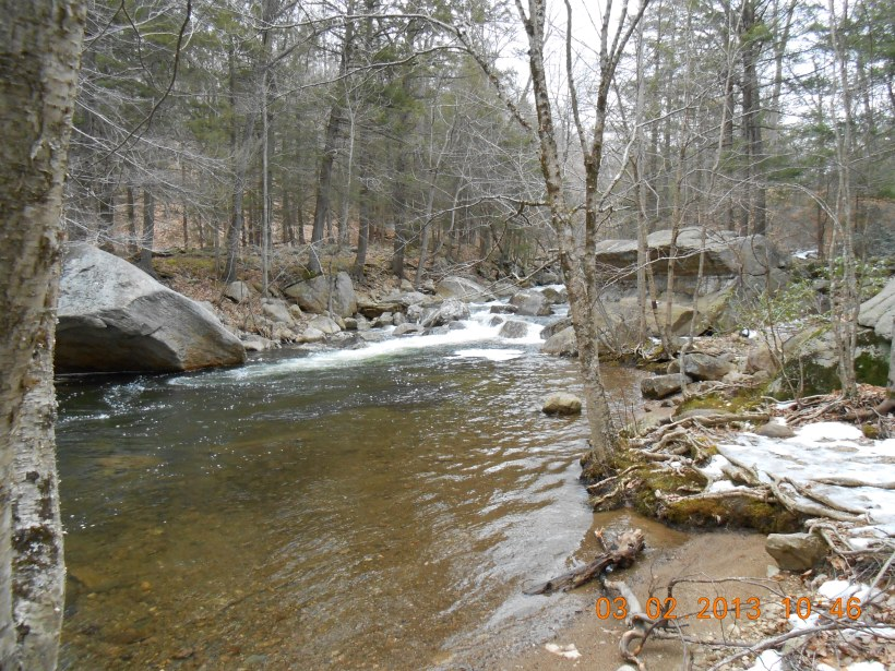 A Waterfall along the trail at Harriman State Park