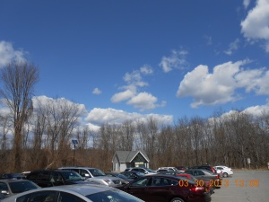 The beautiful blue sky from the parking lot of the Preserve