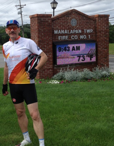 At the first rest area on the Ride 4 Autism