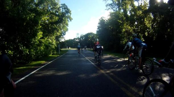 Along the road at the Ride for Autism