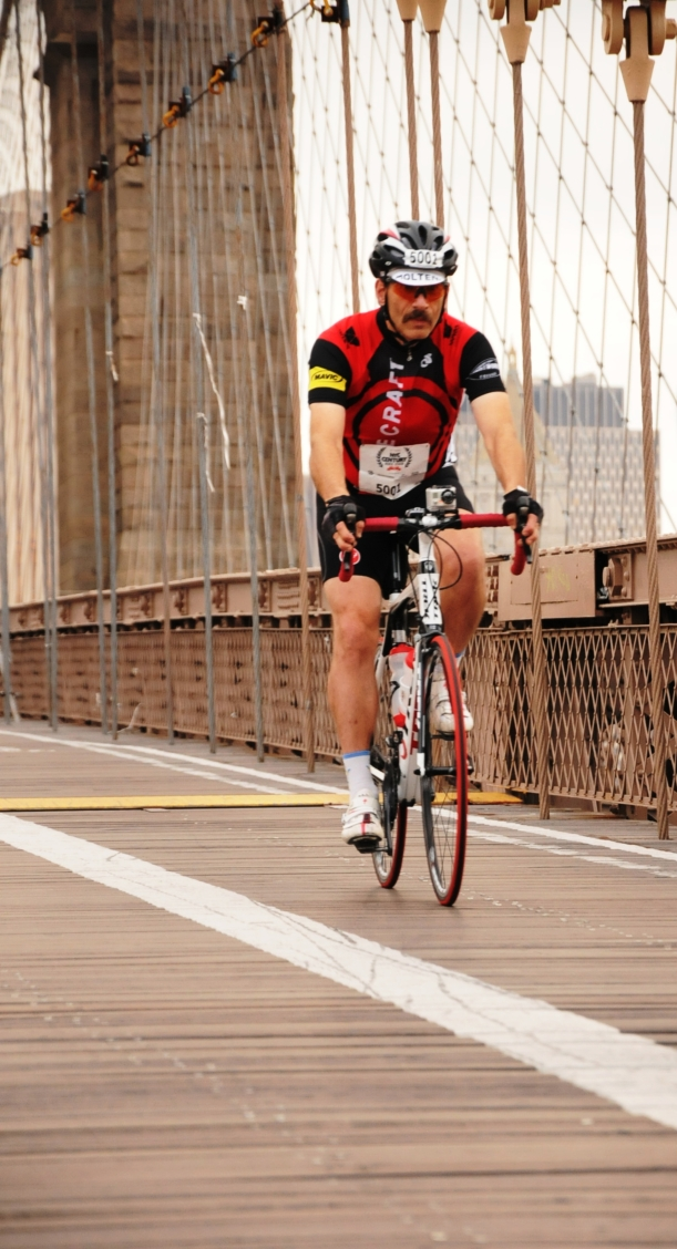 Crossing the Brooklyn Bridge.  I really LIKE this picture.
