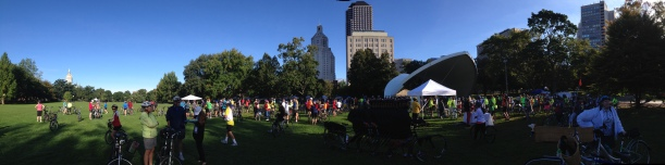 Bushnell Park, Hartford, CT. The start of the Discover Hartford Bike Ride