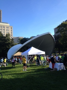 The Registration Tent for the Hartford Ride