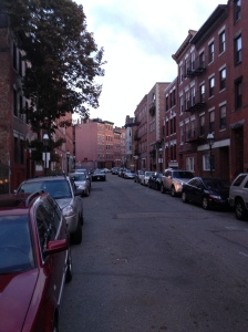 A side Street in Boston on a Beautiful Saturday evening