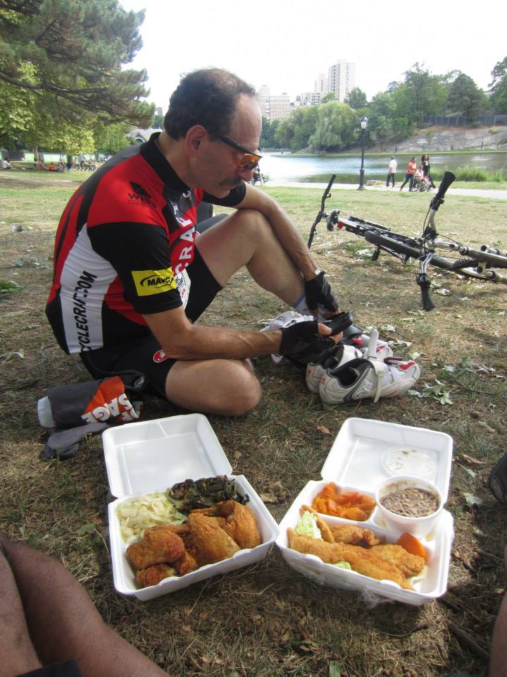 NI bought some Soul Food after the ride.  I had a couple of pieces of catfish.....