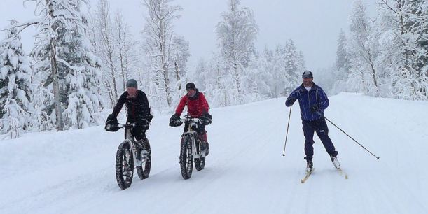 fat bikes and Cross Country Skiing