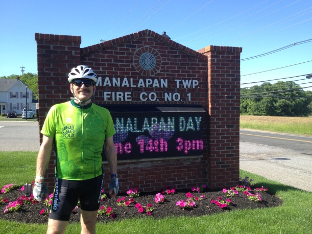 My annual picture at the first rest area of the ride for Autism.  Missing NI